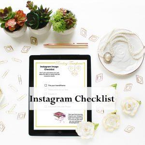 Instagram Checklist